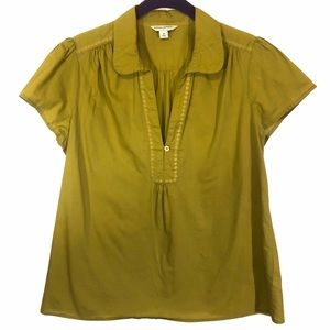 Banana Republic 100% Cotton Women's V Neck Blouse